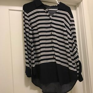 Talbots Striped Button-Down Shirt